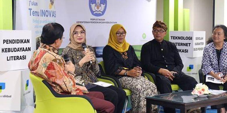 Program kemitraan Inovasi untuk Anak Sekolah Indonesia (INOVASI) kembali menggelar forum Temu INOVASI dengan mengangkat tema ?Pembelajaran Kelas Rangkap di Pendidikan Dasar: Peluang dan Tantangan? di Gedung Kemendikbud, Jakarta (15/5/2019).