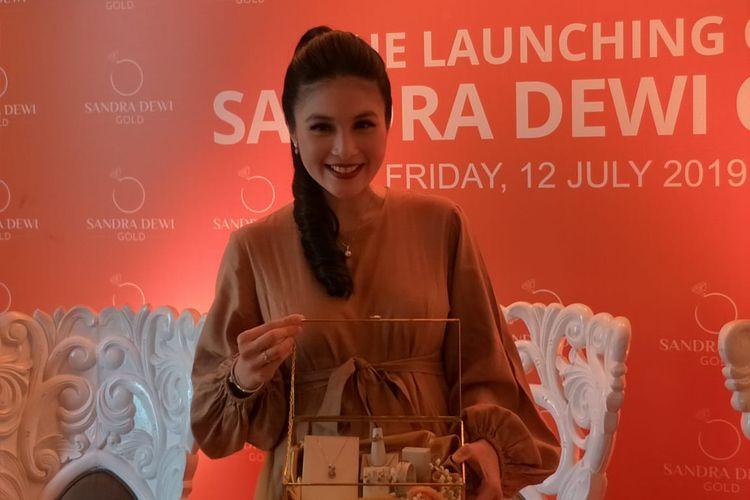 Sandra Dewi saat ditemui di kawasan Kemang, Jakarta Selatan, Jumat (12/7/2019).