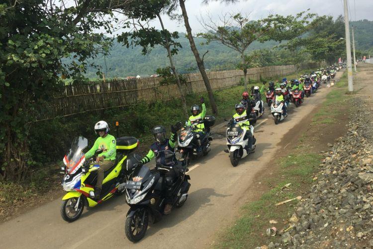 Gathering Nasional PCX Club Indonesia di Banyumas, Jawa Tengah, pada 27 ? 29 April 2018.