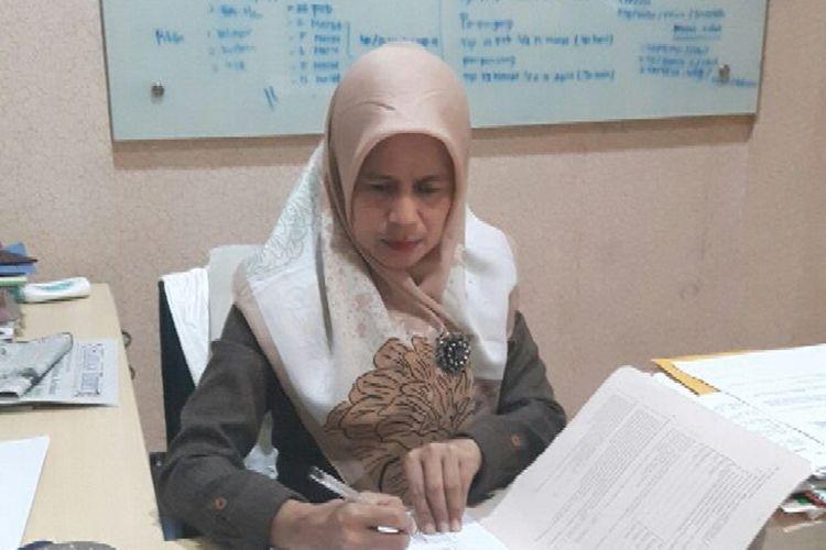 Kanit V Subdit Renakta Direktorat Reserse Kriminal Umum AKP Hasiati Lawole ketika ditemui di ruangannya, Selasa (13/3/2018).