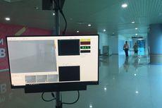 Antisipasi Penyebaran Virus Cacar Monyet, Bandara SMB II Pasang Mesin Pendeteksi Suhu Tubuh