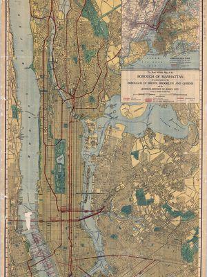 Salah satu peta buatan Rand McNally