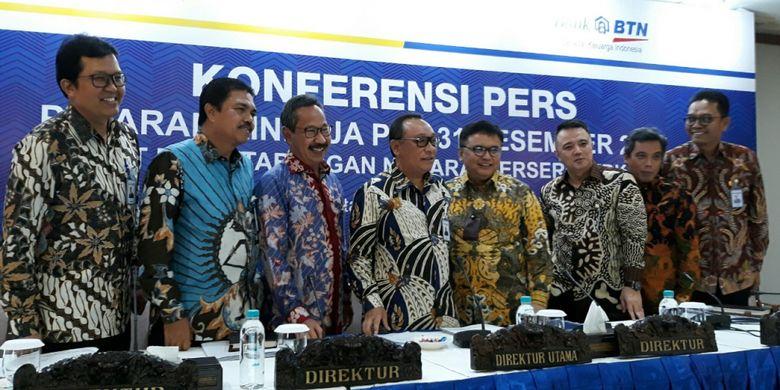 Paparan kinerja keuangan PT Bank Tabungan Negara (Persero) Tbk di Menara BTN, Selasa (13/2/2018).