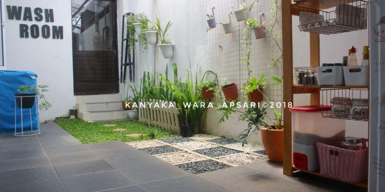Rumah Kanyaka Wara Apsari yang mendesain halaman belakang rumahya secara apik.