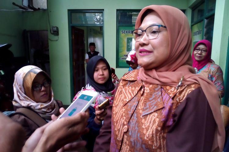 Ida Fauziyah, bakal calon Wakil Gubernur Jawa Tengah pasangan Sudirman Said saat berkunjung ke kantor PCNU Kabupaten Kudus, Jateng, Kamis (1/2/2018).