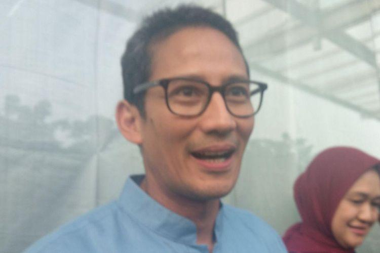 Bakal Calon Wakil Presiden Sandiaga Uno menghadari pembukaan Festival Jakarta Great Sale, Minggu (12/8/2018) sore