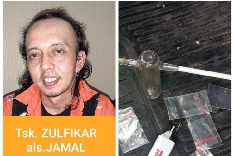 Zulfikar atau yang lebih dikenal dengan Jamal Preman Pensiun kedapatan menyalahgunakan sabu.