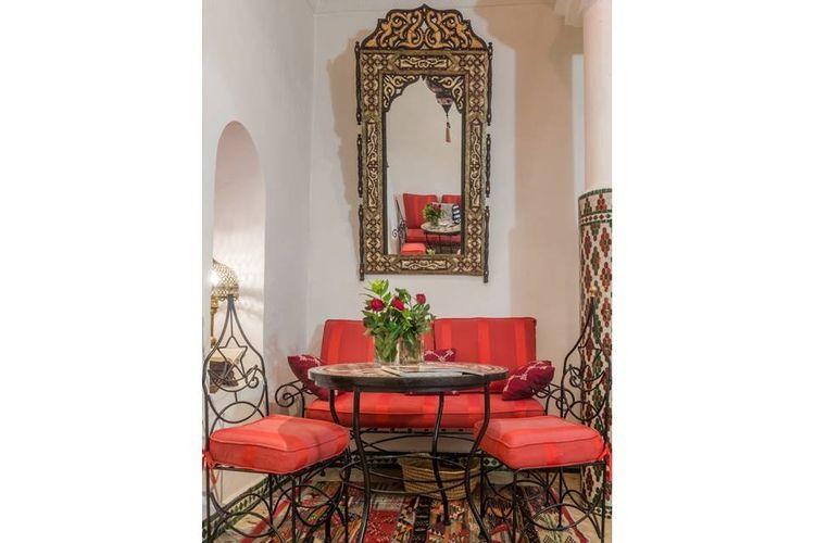 Interior ruangan bergaya Maroko
