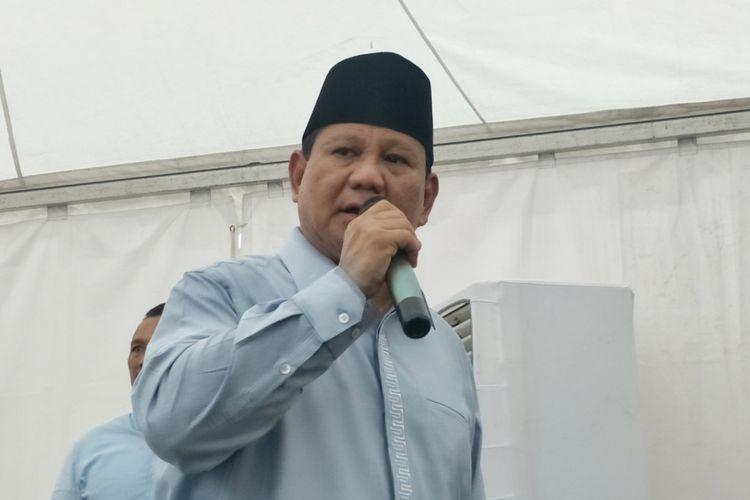 Calon presiden nomor urut 02 Prabowo Subianto