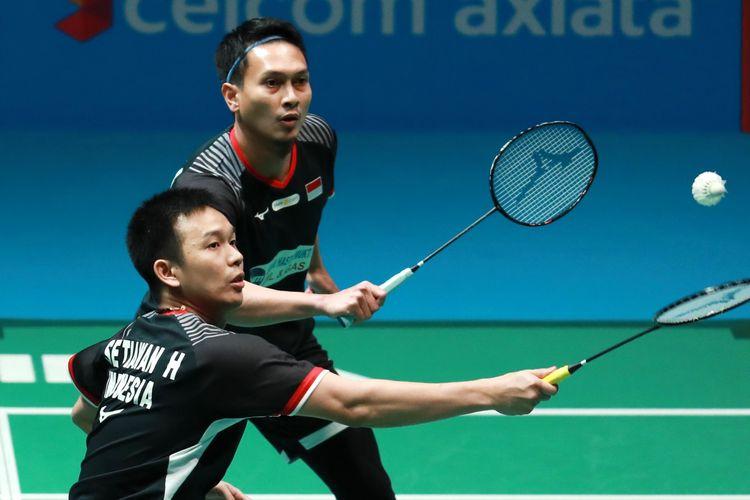 Pasangan ganda putra Indonesia, Hendra Setiawan/Mohammad Ahsan.
