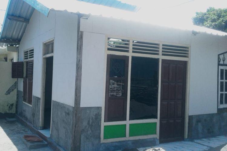 inilah salah satu contoh rumah tumbuh yang dirancang Arvan, arsitek Pengaggas rumah transisi korban gempa, dengan biaya di bawah Rp 5 juta.