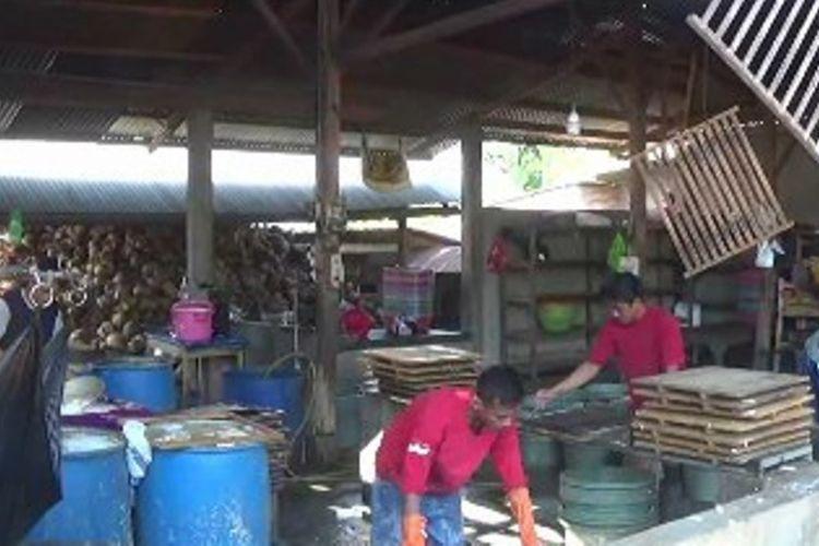 Pengusaha tahu dan tempe di Polewali Mandar mengeluhkan kenaikan harga kedelai impor akibat pelemahan rupiah terhadap dollar AS. Produksi tahu dan tempe mereka anjlok hingga 60 persen.