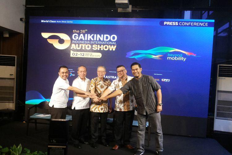 Jumpa pers yang digelar Gaikindo, di Jakarta, Selasa (22/5/2018) terkait penyelengaraan Gaikindo Indonesia International Auto Show (GIIAS) 2018.