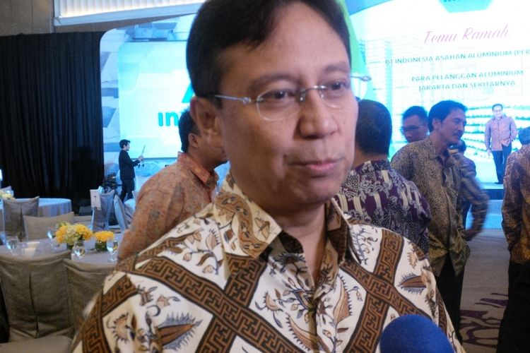 Direktur Utama Inalum, Budi Gunadi Sadikin di Hotel Mulia Jakarta, Jumat (27/10/2017).