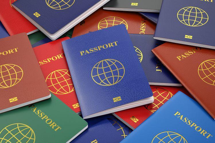 Ilustrasi Macam-macam paspor