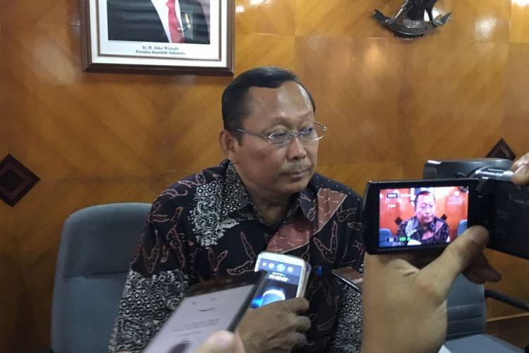 Dirjen Perhubungan Darat Budi Setiyadi saat ditemui di Kementerian Perhubungan, Jumat (19/1/2018)