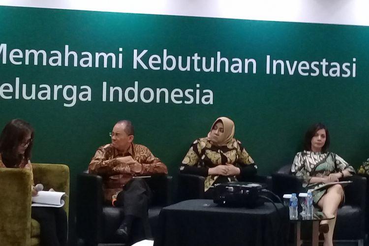 Paparan kinerja Manulife Asset Management dengan tajuk Memahami Kebutuhan Investasi Keluarga Indonesia pada Selasa (27/3/2018).
