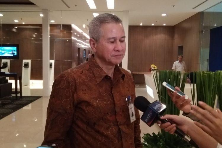 Corporate Secertary Bank Mandiri Rohan Hafas, di Plaza Mandiri, Rabu (6/6/2018).