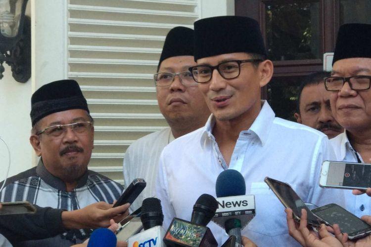 Wakil Gubernur DKI Jakarta Sandiaga Uno di Al-Jazeerah Polonia, Senin (18/6/2018).
