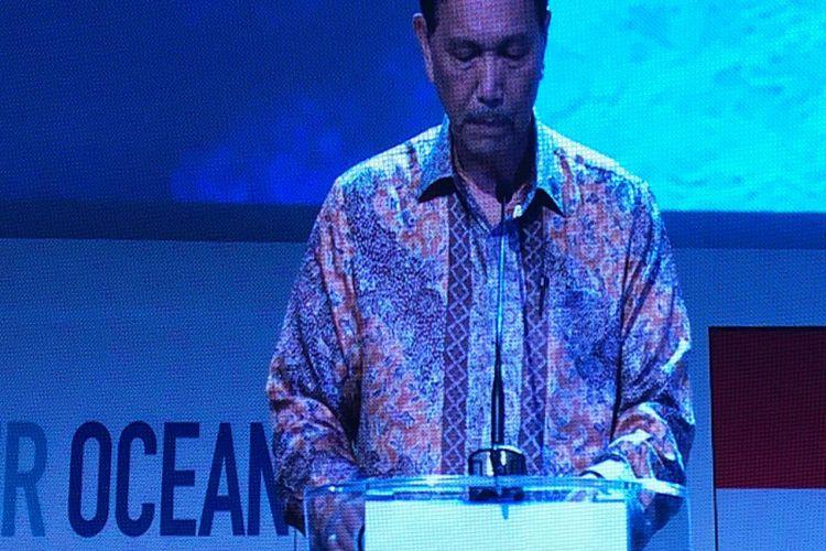 Menteri Koordinator Bidang Kemaritiman Luhut Binsar Panjaitan di Our Ocean Conference (OOC) 2018 di Nusa Dua, Bali, Selasa (30/10/2018)