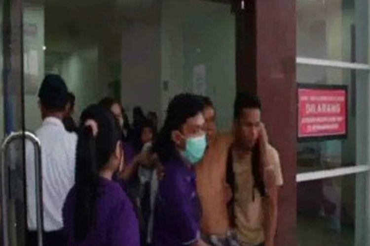 Suasana kepanikan pasien RS Mamuju saat diguncang gempa, Rabu (7/11/2018)