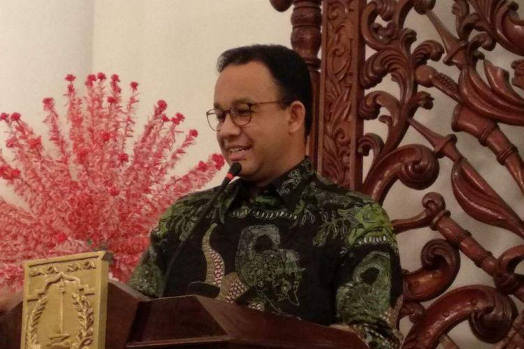 Gubernur DKI Jakarta Anies Baswedan di Balai Kota, Jumat (7/12/2018).