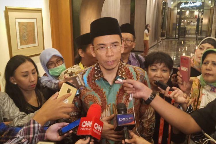 Wakil Ketua Badan Pemenangan Pemilu Legislatif dan Pemilihan Presiden DPP Golkar, Zainul Majdi atau Tuan Guru Bajang (TGB) di Hotel Aryaduta, Jakarta, Sabtu (9/2/2019)