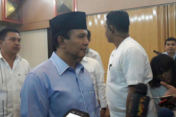Kabareskrim Polri Komjen Ari Dono Sukmanto dalam acara buka puasa bersama di Kantor Bareskrim Polri, Jakarta, Kamis (24/5/2018).