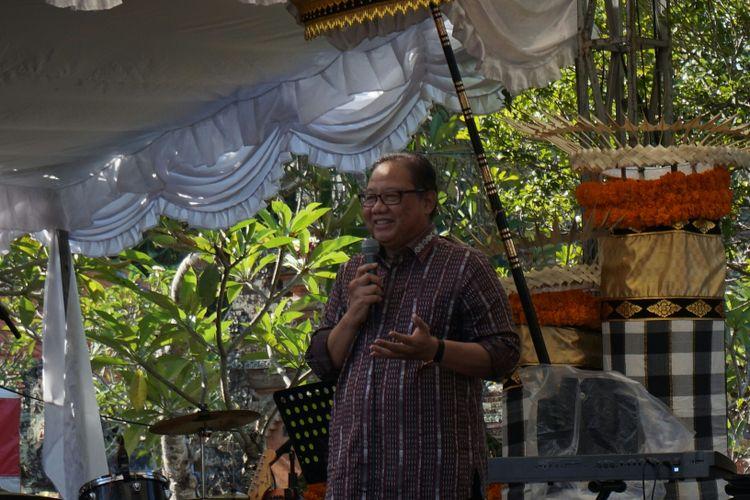 Menteri Koperasi dan UKM AAGN Puspayoga di acara Celuk Jewellery Festival, Gianyar, Bali, Jumat (13/10/2017).