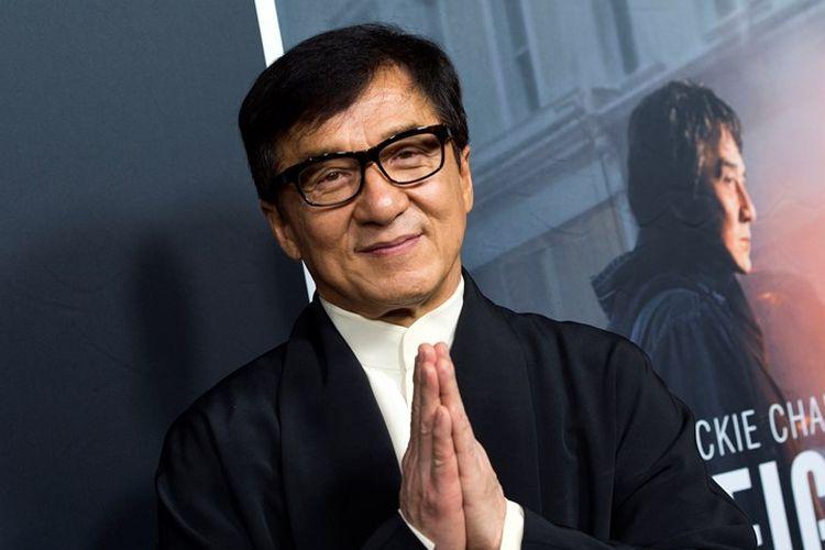Aktor laga asal Hong Kong, Jackie Chan saat perilisan salah satu film teranyarnya, The Foreigner pada Oktober 2017.