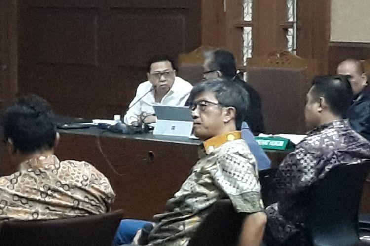 Direktur Utama PT Quadra Solution Anang Sugiana Sudihardjo di Pengadilan Tipikor Jakarta, Kamis (22/2/2018).