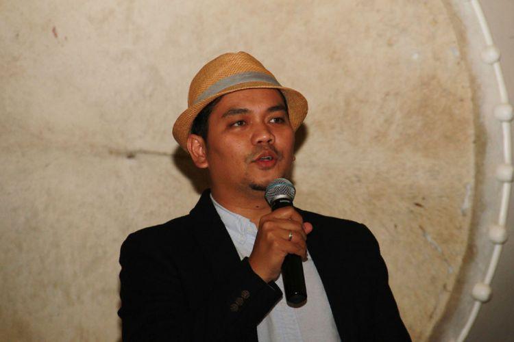 Indra Bekti di sela menghadiri perilisan teaser film Ayat-ayat Cinta 2 di Senayan City, Jakarta Pusat, Jumat (7/7/2017).