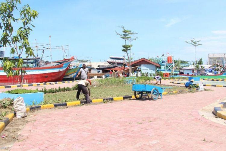 Penataan kampung nelayan Tegalsari oleh Kementerian PUPR.