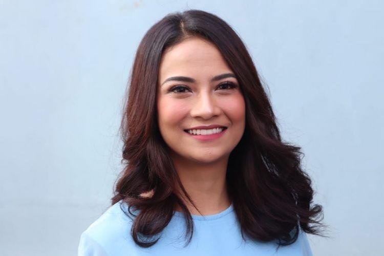 Vanessa Angel saat ditemui di kawasan Tendean,  Jakarta Selatan, Rabu (13/6/2018).