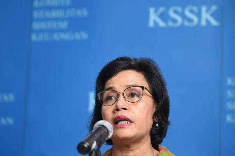 Menteri Keuangan Sri Mulyani di Kantor Kementerian Keuangan, Jakarta, Selasa (29/1/2019)