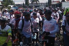 Promosikan KA Galunggung, PT KAI Gandeng Komunitas Sepeda Lipat Gowes Keliling Tasik