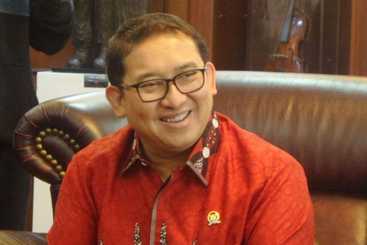 Wakil Ketua DPR RI Fadli Zon di Kompleks Parlemen, Senayan, Jakarta, Senin (25/9/2017).