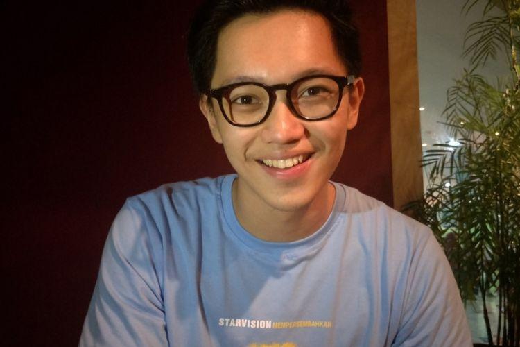 Brandon Salim di sela nonton bareng film Raja, Ratu, dam Rahasia di bioskop 21 Grand Mal Bekasi, Jawa Barat, Jumat (13/7/2018).