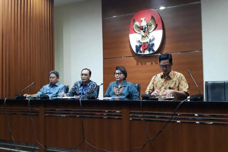 KPK umumkan penetapan tersangka pasca OTT di Tangerang, Selasa (13/3/2018).