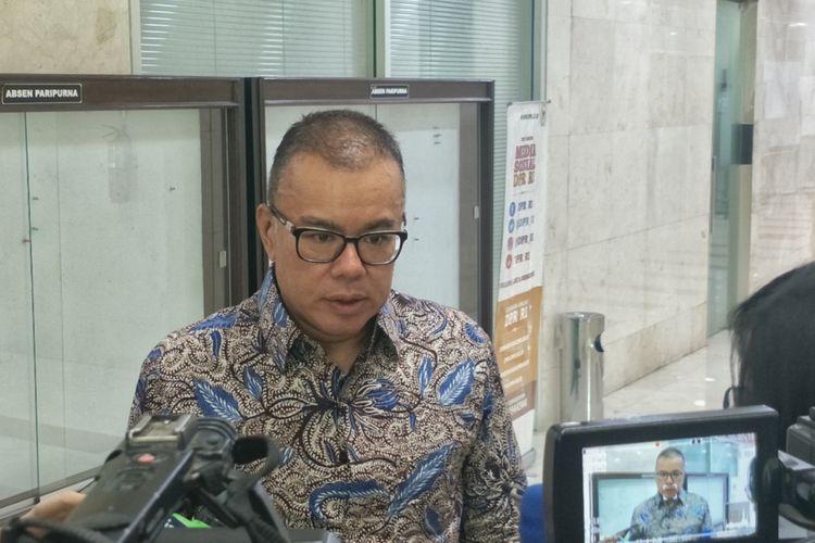 Wakil Ketua Umum Dewan Pimpinan Pusat (DPP) Partai Amanat Nasional (PAN) Bara Hasibuan di Kompleks Parlemen, Senayan, Jakarta, Rabu (12/12/2018).