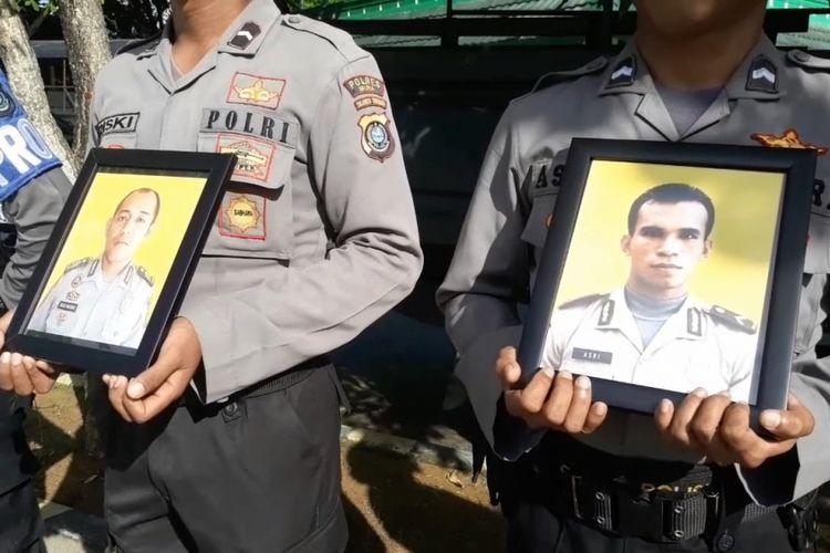 Dua anggota Polres Muna, Sulawesi Tenggara (dalam foto) dipecat dengan tidak hormat. Selain Mangir dari tugas, seorang diantaranya terlibat dalam pencurian sapi milik warga