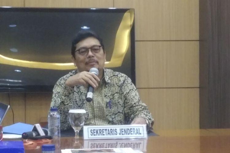 Sekretaris Jenderal Kementerian Keuangan Hadiyanto di Jakarta, Rabu (14/11/2018).