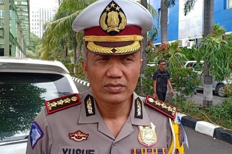 Dirlantas Polda Metro Jaya, Kombes Pol Yusuf, mengungkap hasil uji coba tilang elektronik di Polda Metro Jaya, Jakarta Selatan, Kamis (1/11/2018).