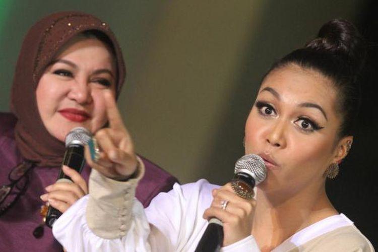 Emilia Contessa dan Denada (Kompas.com/ Irfan Maulana)