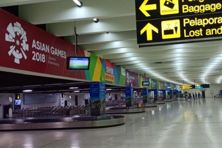 Fasilitas baru Bandara Soekarno-Hatta, Cengkareng dalam rangka Asian Games 2018, Sabtu (18/8/2018).