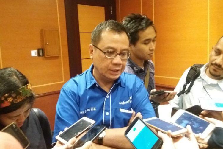 Direktur Utama Angkasa Pura I (AP I) Faik Fahmi di Jakarta, Rabu (21/2/2018)
