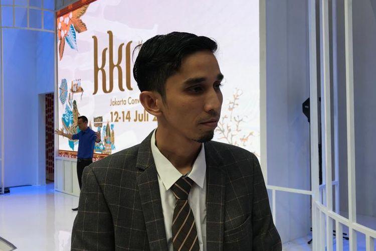 Teuku Dharul Bawadi, pemilik Bawadi Coffee saat diwawancarai di Jakarta, Sabtu (13/7/2019).