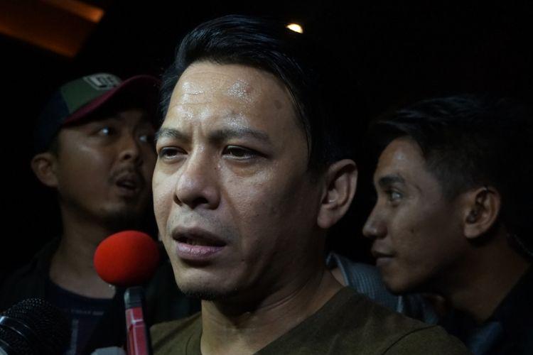Ariel NOAH dijumpai sesudah tampil dalam pertunjukan musik Gala Dana 100 Biduan 100 Hits untuk Palu-Donggala Sulteng di Lippo Mall Kemang, Jakarta Selatan, Jumat (5/10/2018).