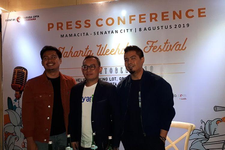 Jumpa pers Jakarta Weekday Festival di Jakarta, Kamis (7/8/2019).
