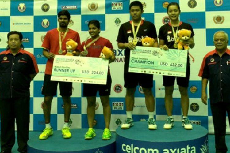 Satu gelar juara diraih Indonesia di ajang Malaysia International Series 2017 lewat kemenangan pasangan ganda campuran Yantoni Edi Saputra/Marsheilla Gischa Islami setelah mengalahkan K. Nandagopal/Mahima Aggarwal (India), 21-19, 21-9, Minggu (16/07/2017).